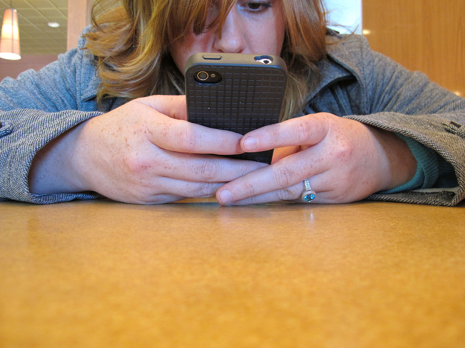 Girl Using Mobile App