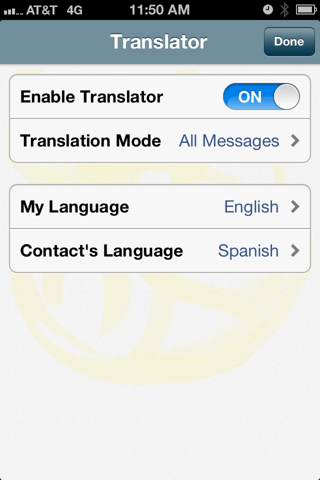 TEXT MESSAGE TRANSLATION