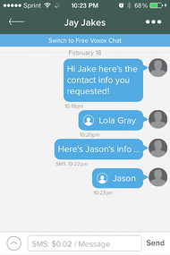 Voxox Contact share 11