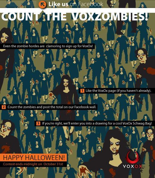Zombie Voxox Halloween Facebook Contest