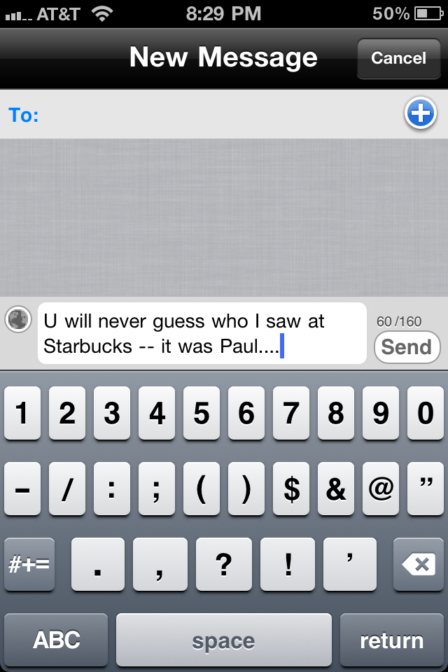 Texting Anticipation