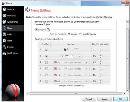 Screenshot 1 - mobile forwarding instructions