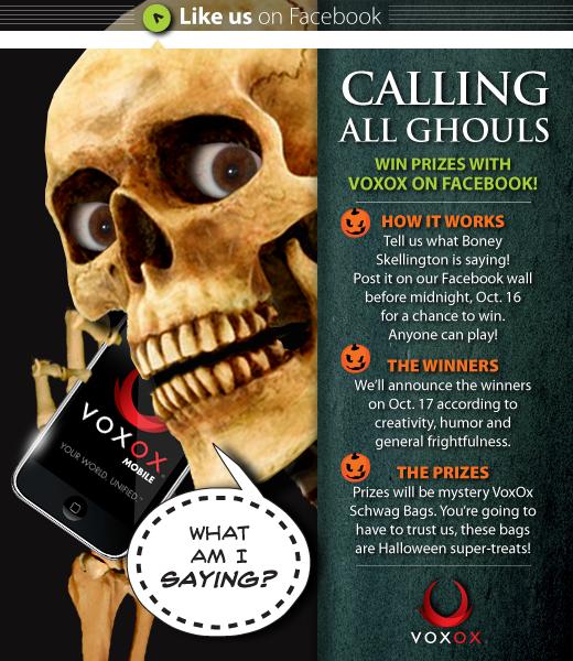 VoxOx Halloween Facebook Contest