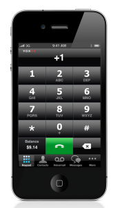 Voxox Call for iPhone Keypad