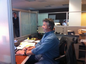 Barret Working in the Technical Assistance Center