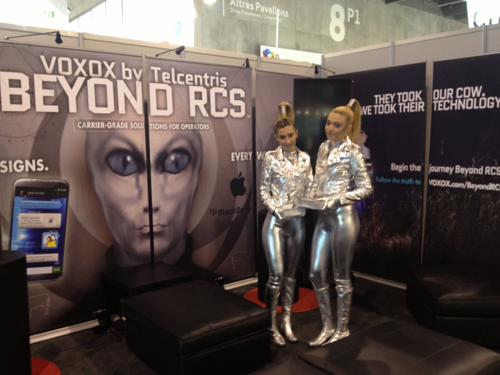 Intergalactic Alien Girls at the Voxox Booth
