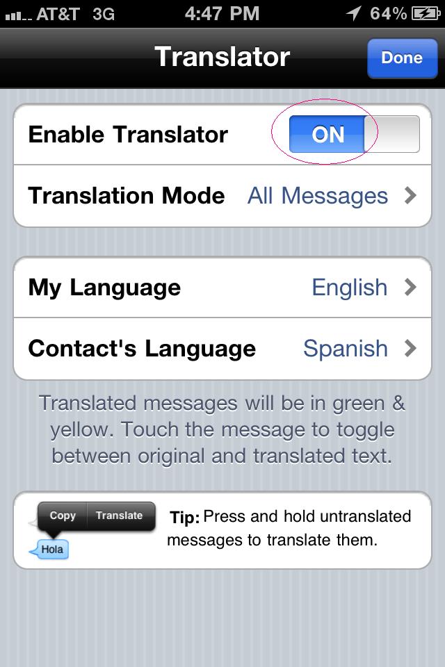 Voxox SMS translator 2