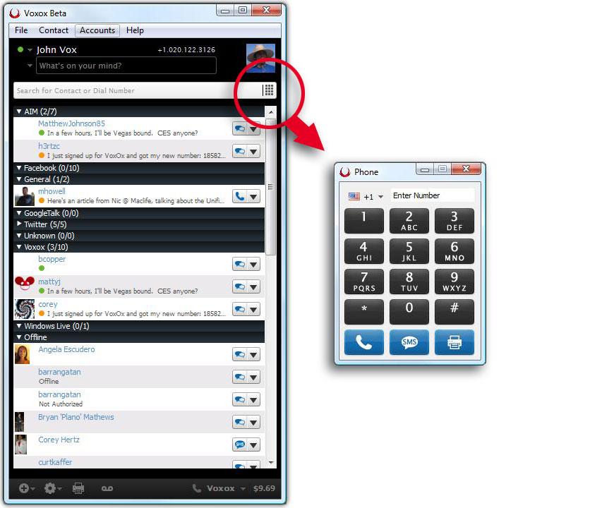 New Voxox keypad