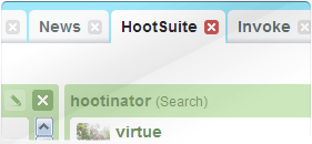 HootSuite's Tabbed Layout