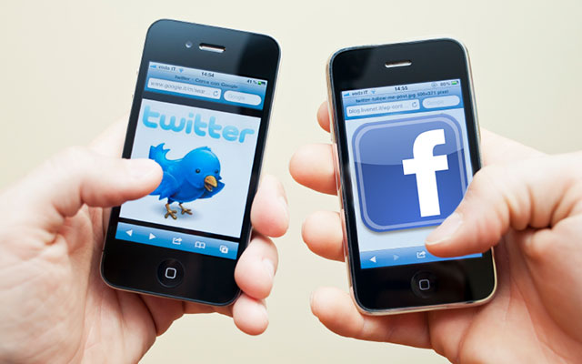 Facebook and Twitter Mobile