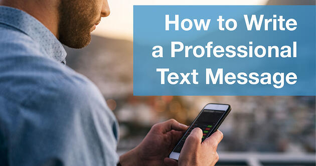 How to Write a Professional Text Message